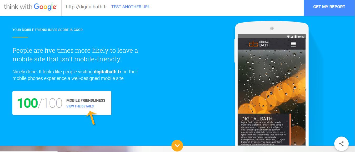 Test My Site : le nouvel outil de test de Google pour