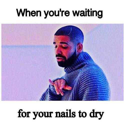 drake meme nails